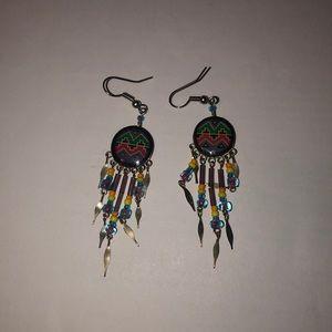 Tribal print earrings